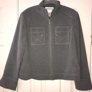 EUC Evan - Picone Stretch Front Zip Jacket Size 12